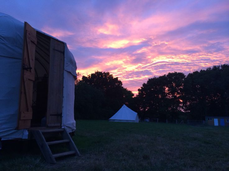 Sunset at the 14ft Yurt.