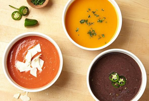 3 Wholesome Slow Cooker Soup Recipes - Make these 3 oh-so-simple black bean, tomato and butternut squash soups.