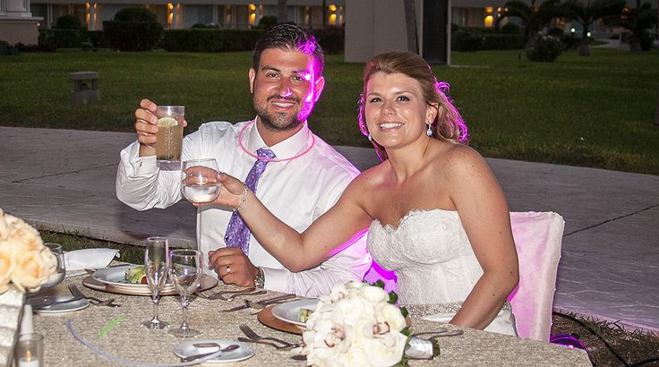 Somebody brought out the glow sticks at this wedding reception! | Palace Resorts Weddings ®