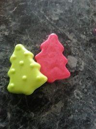 Christmas Tree Soaps $3 each Website: www.purplebutterflydesigns42.weebly.com Facebook: www.facebook.com/purplebutterflydesigns90 Instagram: www.instagram.com/purplebutterflydesigns