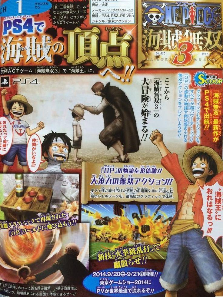 One Piece: Pirate Warriors 3 anunciado  - http://showmetech.band.uol.com.br/one-piece-pirate-warriors-3-anunciado/