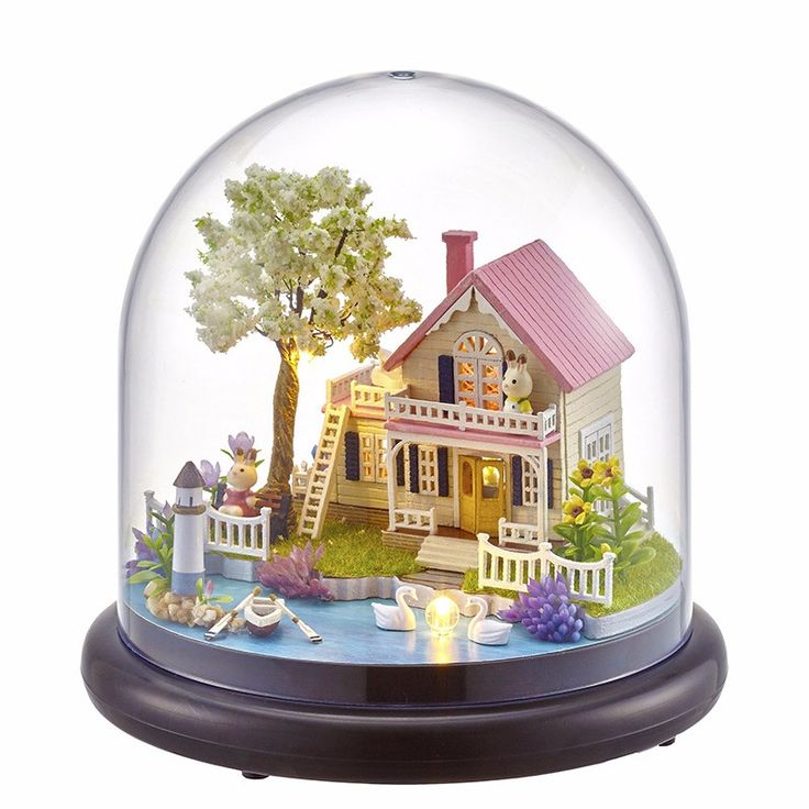 CUTEBEE Doll House Miniature DIY Dollhouse With Furnitures Wooden House Toys For Children Birthday Gift B21