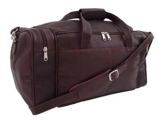 Small Leather Duffel Bag 7700 CHC Piel Chocolate 12999