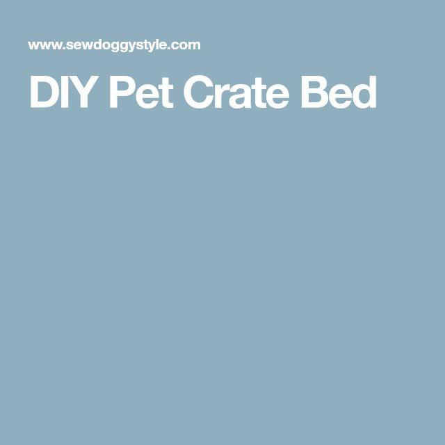 DIY Pet Crate Bed