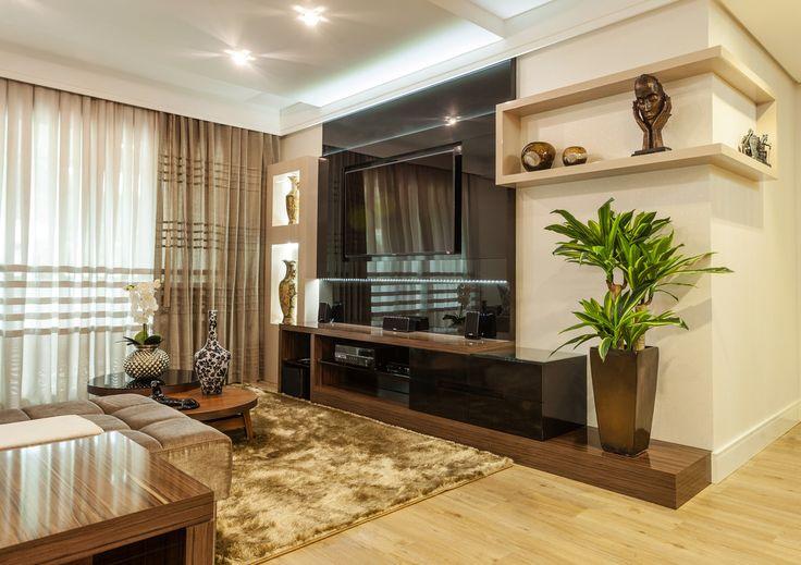 Sala De Estar Kawaii ~ Fotos de sala de estar  sofisticação na sala de estar  Black tv