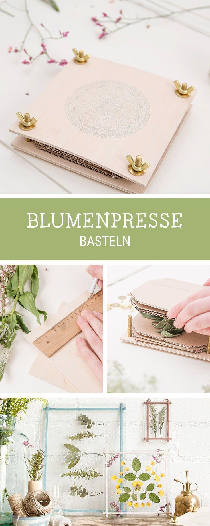 DIY-Anleitung für eine selbstgebaute Blumenpresse / crafting a flower press, botanical diys via DaWanda.com