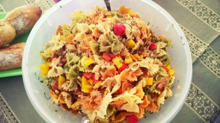 #Recette de la #salade de #pates gorgée de soleil