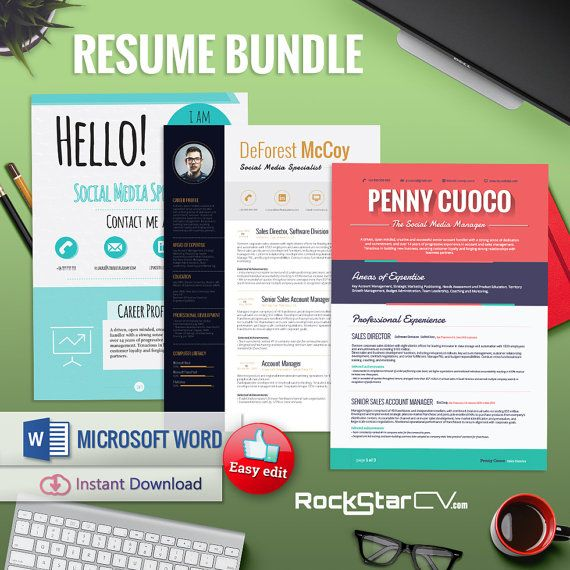 51 best RockStarCV - Resume Templates images on Pinterest - microsoft word templates for resumes