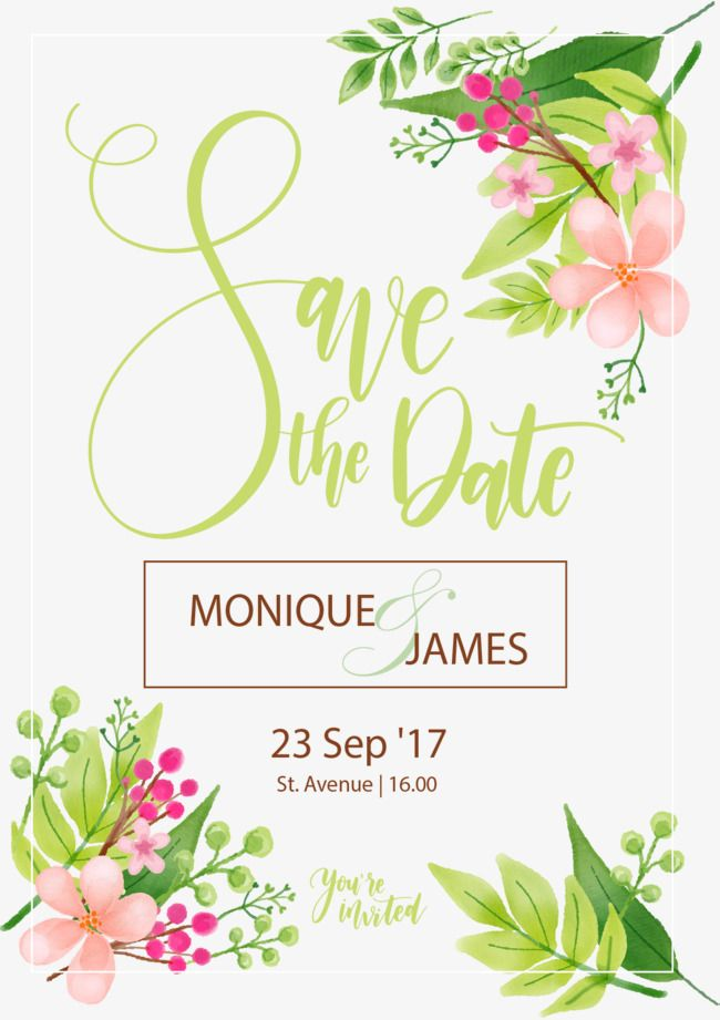 Small Fresh Flowers Invitation Letter Vector Material Wedding Card Png And With Transpa Background For Free In
