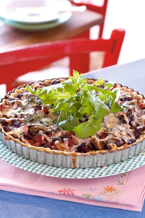 Toby's Biltong tart  Toby's Biltong is a very popular South African snack. It's sort of like beef jerky, but much tastier. You can use grated biltong on sandwiches, pizza, soups, baked potatoes, salads - on anything really! 1) Get dry sliced biltong 2) Put in blender 3) You've got grated biltong! So easy to make and DELICIOUS!