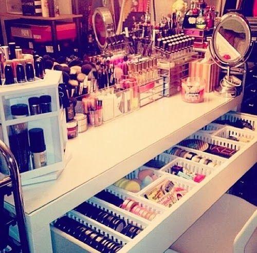 ❤ Mademoiselle Mili: # Rangement Maquillage : astuces et accessoires
