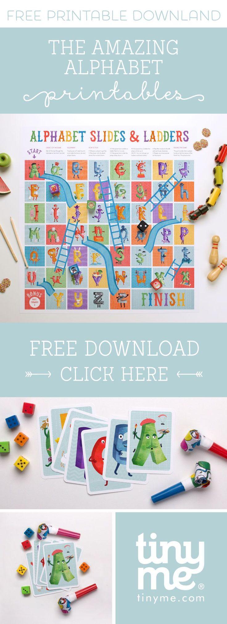 'The Amazing Alphabet' Free Printables & Book | Tinyme Blog