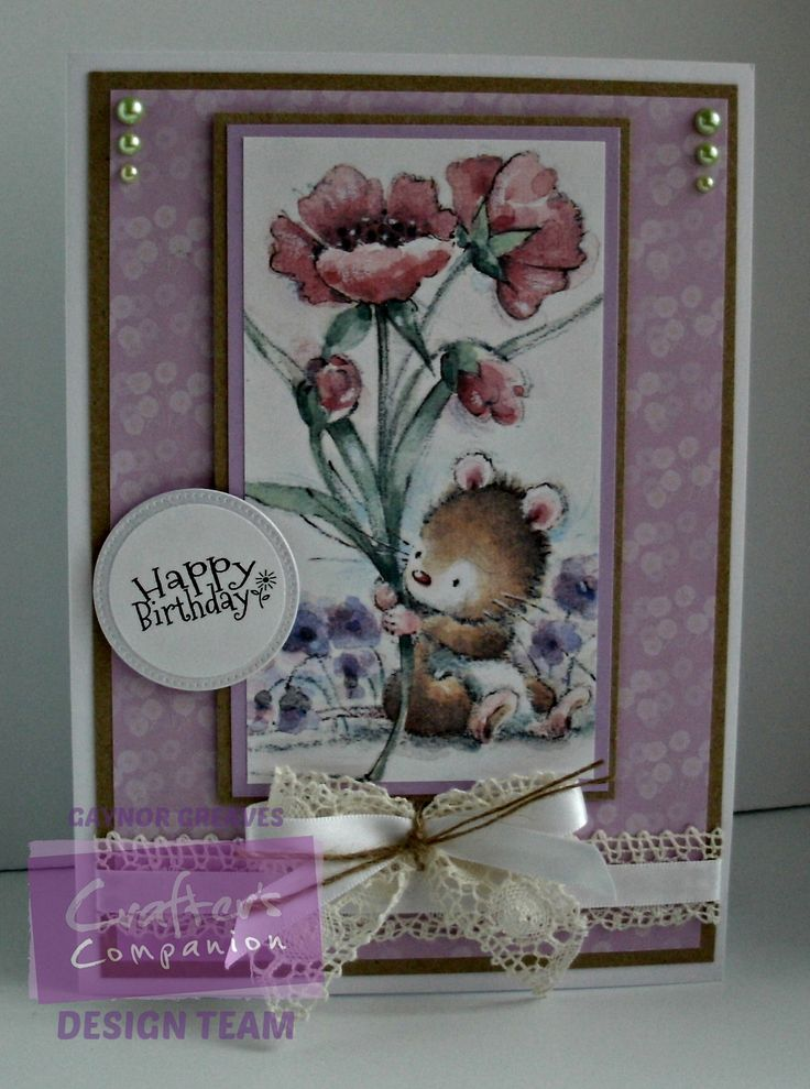 Gaynor Greaves - Makey Bakey Mice Everyday CD rom - Printable Light card - Kraft card - #crafterscompanion