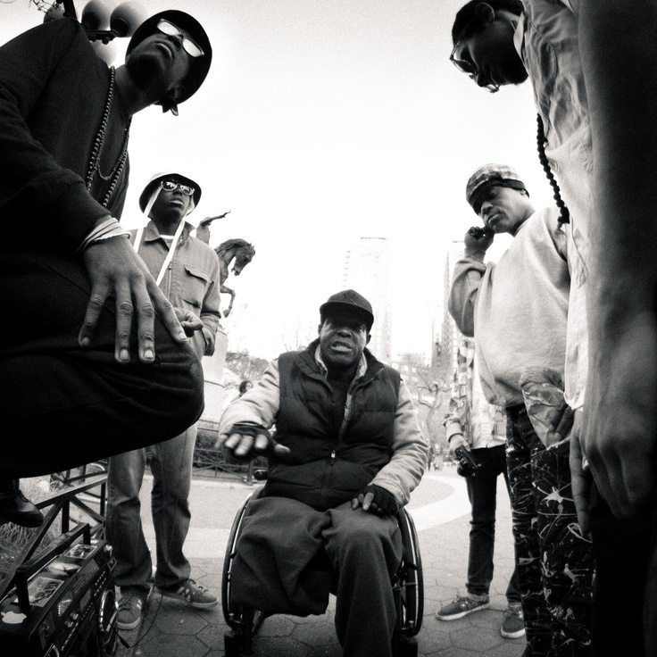 On a wheelchair, and still freestyling - Photo by Razi