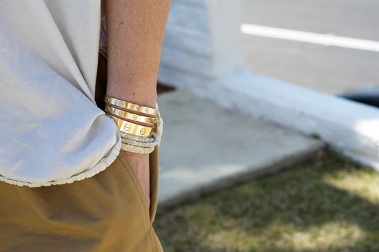 embroidered bracelets with cartier love bangles