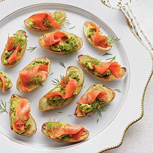 Fingerling Potatoes with Avocado and Smoked Salmon | MyRecipes.com