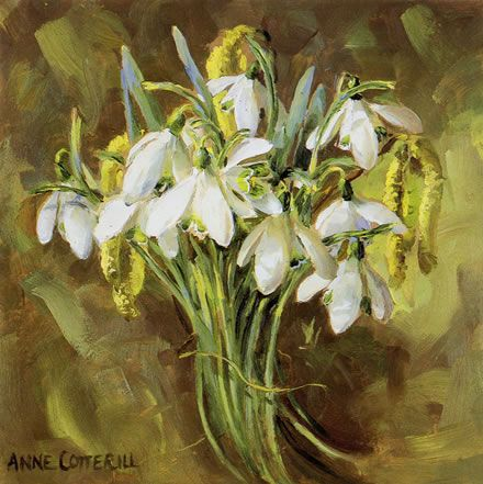Little Bunch of Snowdrops - Blank Card   Mill House Fine Art – Publishers of…