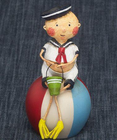 Lori Mitchell Bernie Beach Ball Figurine #zulily #zulilyfinds