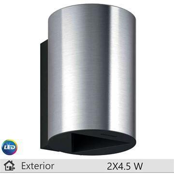 Aplica LED exterior Philips Buxus inox 2x4.5W http://www.etbm.ro/iluminat-decorativ-exterior