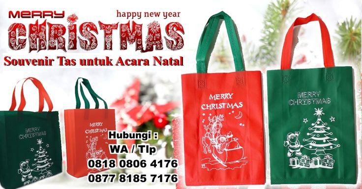 Jual Souvenir Tas untuk Acara Natal - Goody Bag Natal