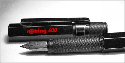 Rotring 600 fountain pen - my all time favourite pen by wj gibson (Archie Goodwin), via Flickr