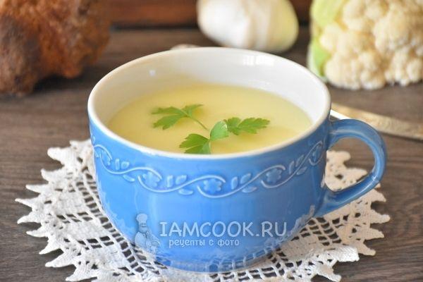 Супа-пюре из цветной капусты и картофеля