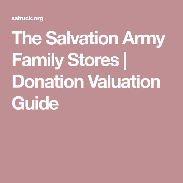 The Salvation Army Family Stores | Donation Valuation Guide