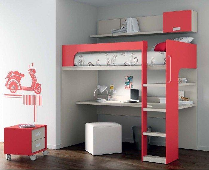 17 mejores ideas sobre habitaciones peque as de ni as en for Armarios para habitaciones pequenas