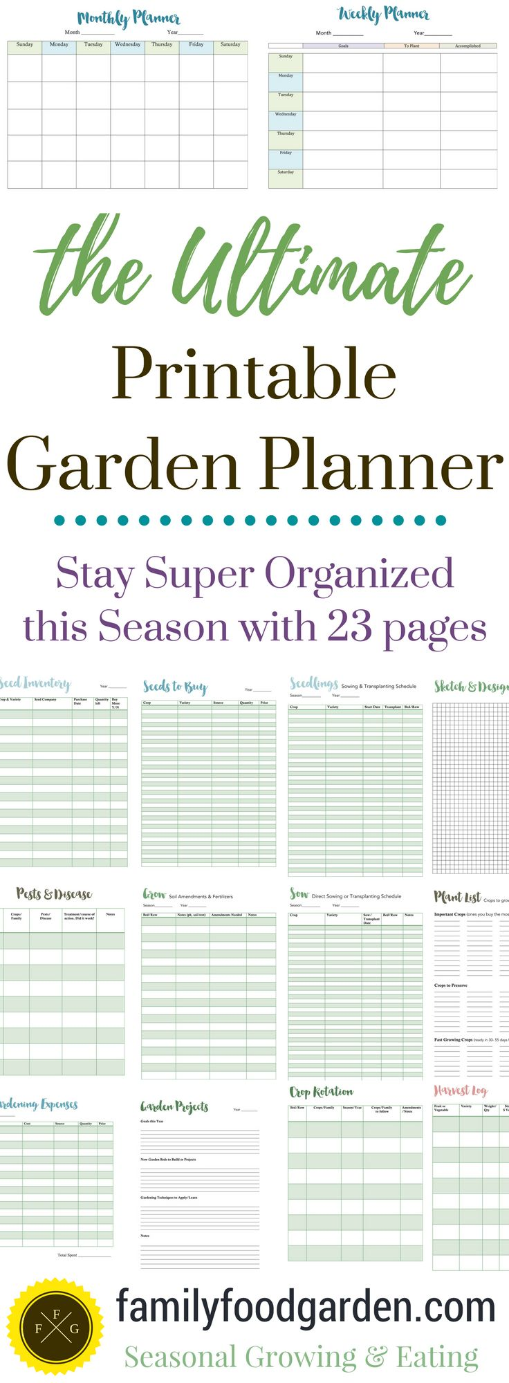 128 best printable charts templates forms images on for Home and garden planner