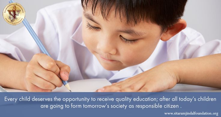 Every child deserves the opportunity to receive quality education; after all today's children are going to form    tomorrow's society as responsible citizen .  It has been our earnest endeavour at SJF to make education available to one and all and we run a string of educational establishments for this very purpose. Visit http://www.sitaramjindalfoundation.org/educational-institutions.php for details. #NGO #JindalFoundation