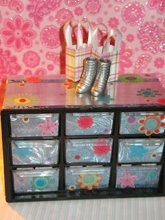 Nine Drawer And Nail Container Is Transformed Into A Barbie Accessory Storage