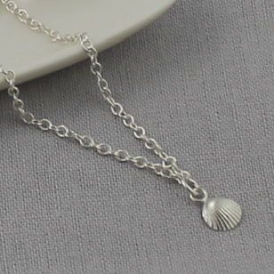 Personalised Silver Shell Bracelet