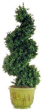 Spiral Tree In Urn Flower Arrangement - Traditional - Artificial Flowers - Winward Designs