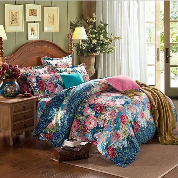 baroque hot 3d bedding set duvets cover printed bedsheet pillowcase 4pcs bedspread queen size cotton double