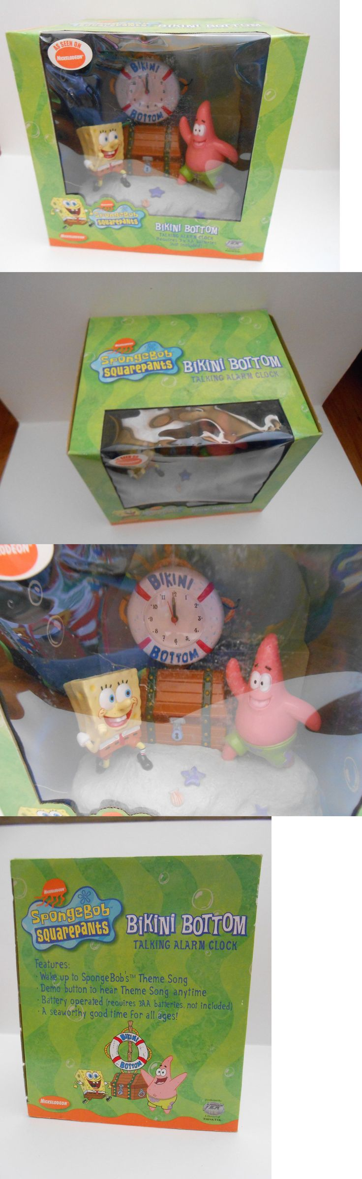 SpongeBob Squarepants 20919: Nickelodeon Spongebob Squarepants Bikini Bottom Talking Alarm Clock -> BUY IT NOW ONLY: $45.95 on eBay!