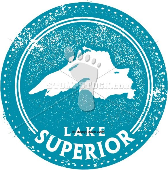 Vintage Lake Superior Map Graphic