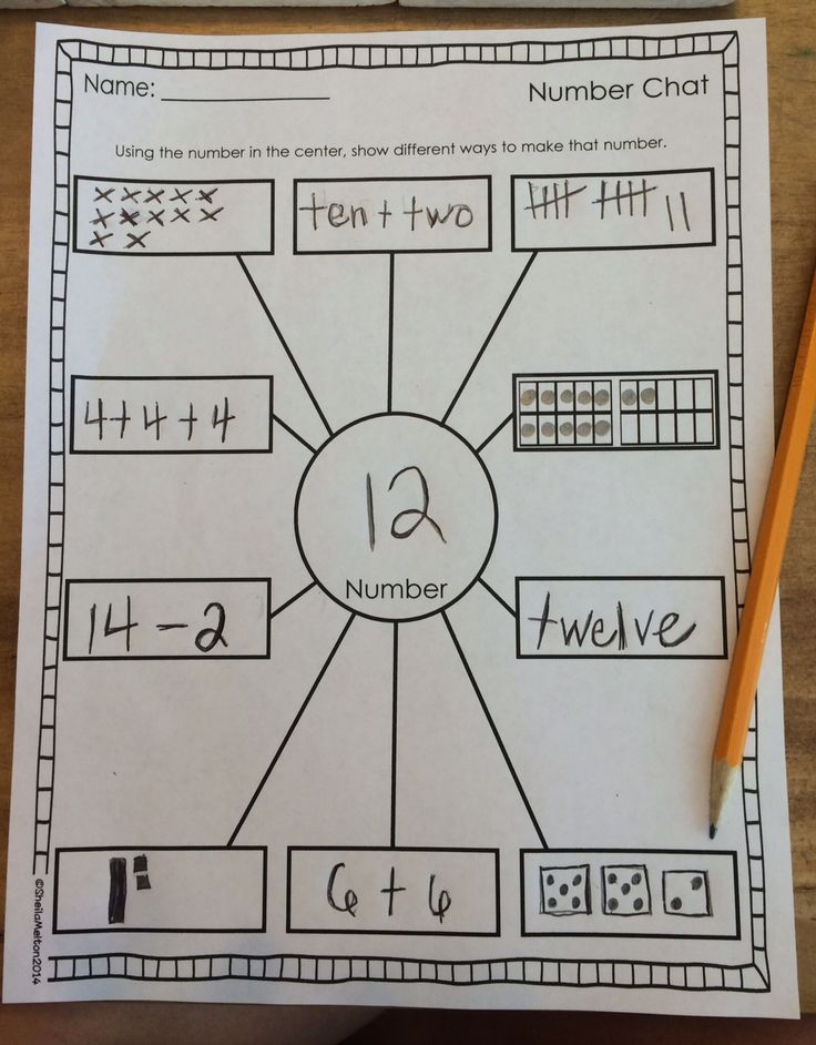 Number Sense FREEBIE!! Several versions included!! Directions: Using the number in the center (chosen by you or the student), the students write down 10 different ways to show that number (base 10 blocks, addition sentence, dots, tally marks, number words, multiplication, pictures, etc.) #math #numbersense