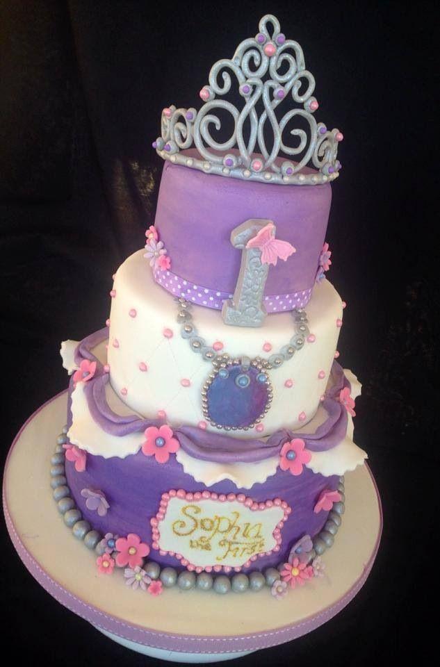 3 Tier Sophia The First Birthday Cake Cakes Disney