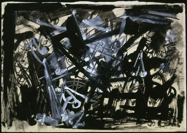 """Emilio Vedova - Studio per spazio inquieto, 1953 """"La Magnifica Ossessione"""" www.mart.tn.it/magnificaossessione"""