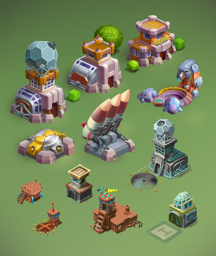 game objects on Behance