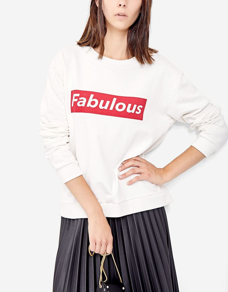 At Stradivarius you'll find 1 Sweatshirt with slogan for just 9.99 United Kingdom . Visit now to discover this and more Boots and ankle boots.