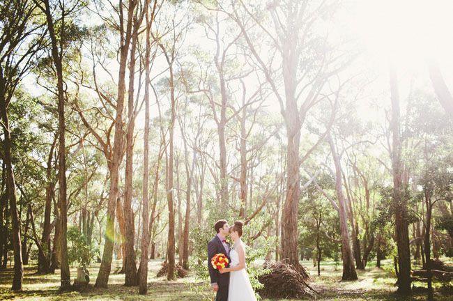 In the bush Vintage Garden Party Wedding: Louise + Dave