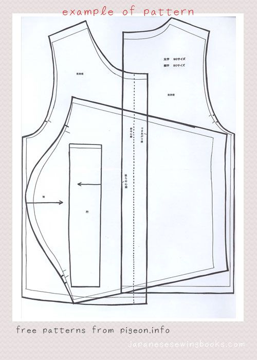 Link to free japanese sewing patterns