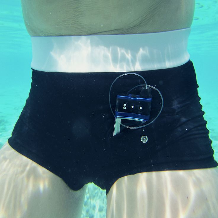 AnnaPS Bikini with a clever pocket for insulin pumps used by brand ambassadeur sportswoman Josefin Palmen when diving in the Maldives