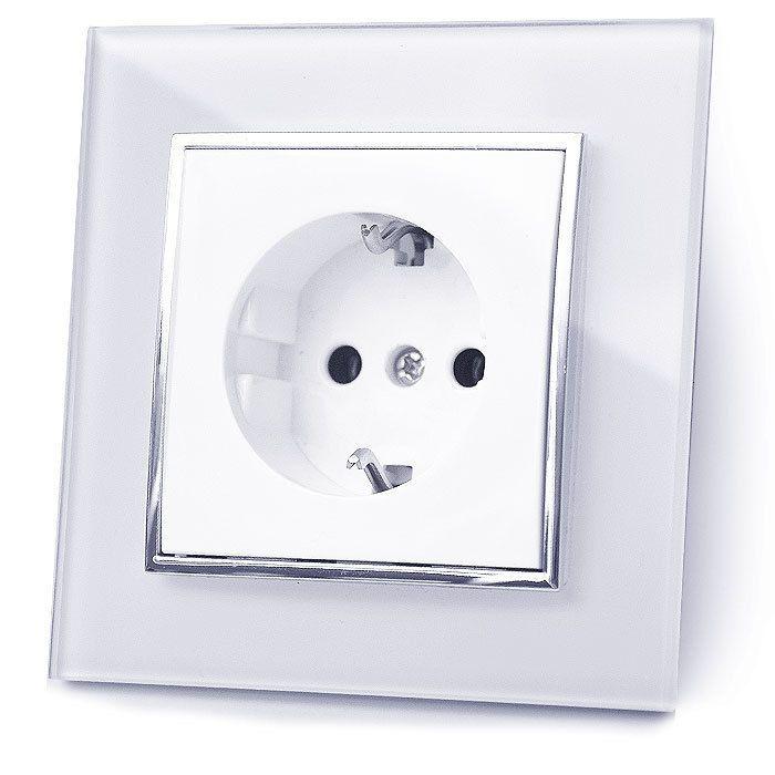 Schalter Steckdose Wechselschalter Wandschalter Rolladen Glas Eindeckrahmen in Heimwerker, Elektromaterial, Schalter | eBay