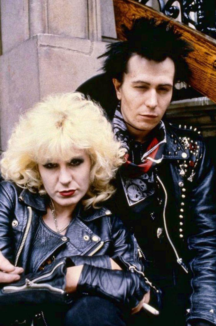 """Chloe Webb y Gary Oldman en """"Sid y Nancy"""", 1986"""