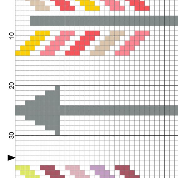 Colorful Arrows PDF Cross Stitch Pattern  Instant Download