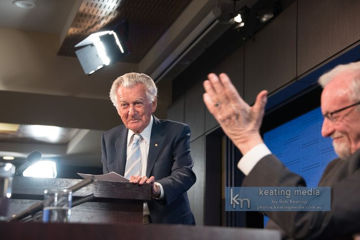 """Bob Hawke, """"With respect, Gareth, this is simply not true."""" Talking about how Gareth Evans had said Bob Hawke rarely generated big new ideas."""