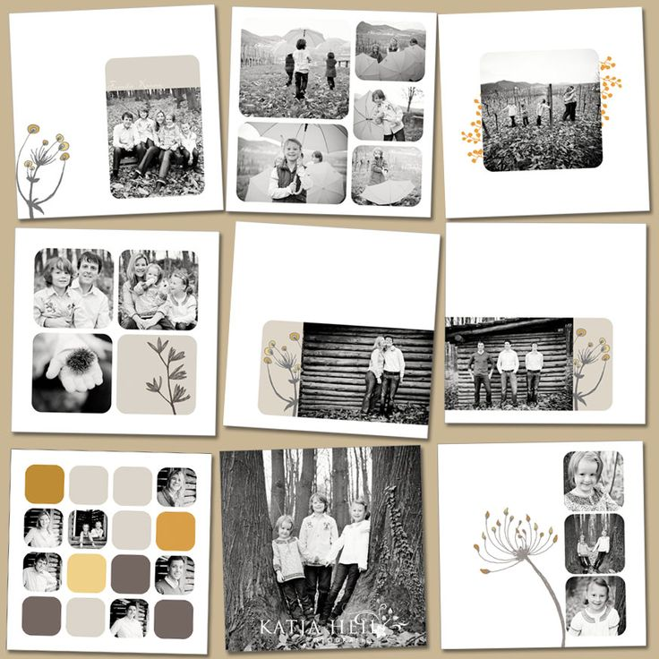 with texts, colors and images Fotobuch-Familie