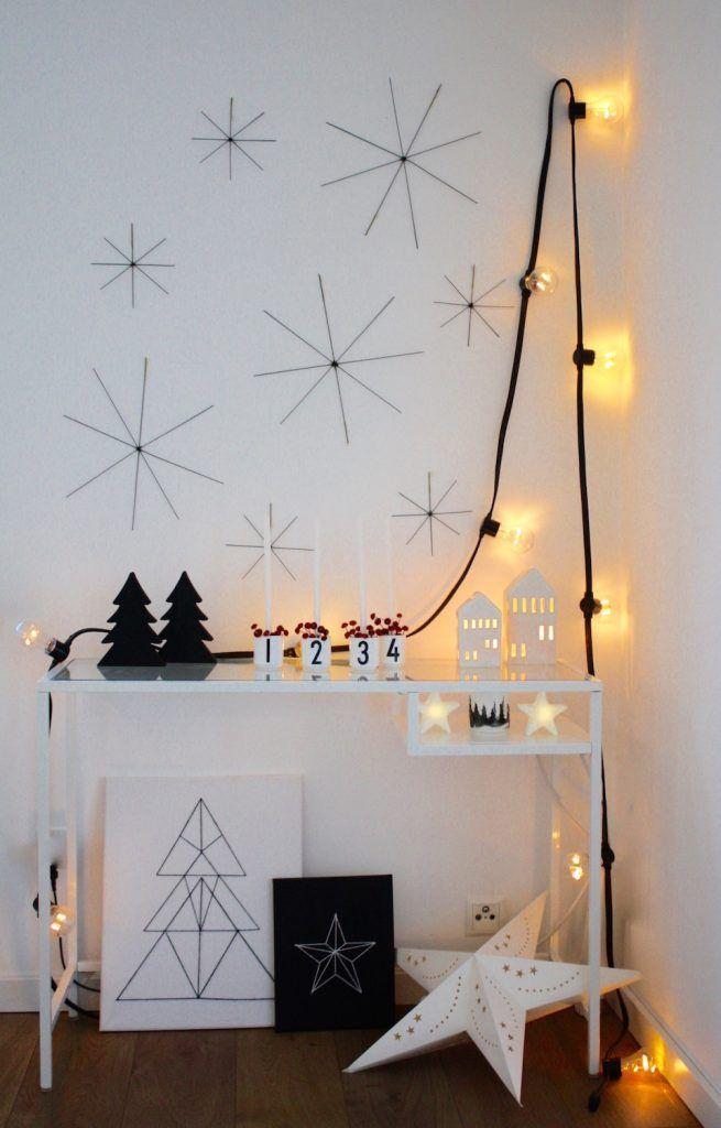 Drahtsterne selber machen einfache Weihnachtssterne aus Draht Mimimia DIY Blog #Draht ##Drahtbügel #Sterne #Papiersterne #Deko #Bild #Weihnachten #Weihnachtsdeko #Lichterketten